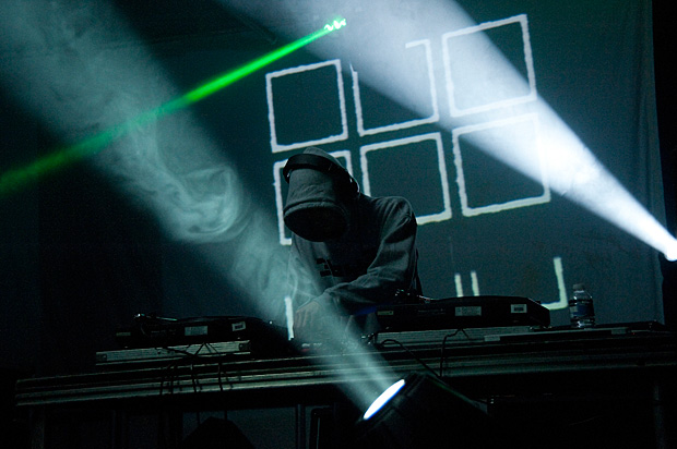 Performing live visuals at Supersonic Festival 2010