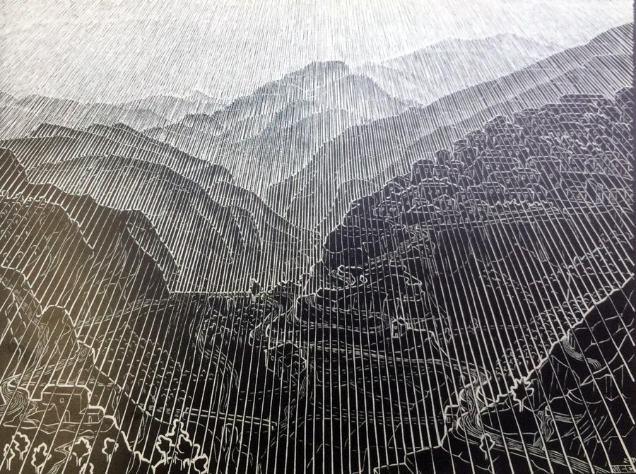 mountain-by mcescher