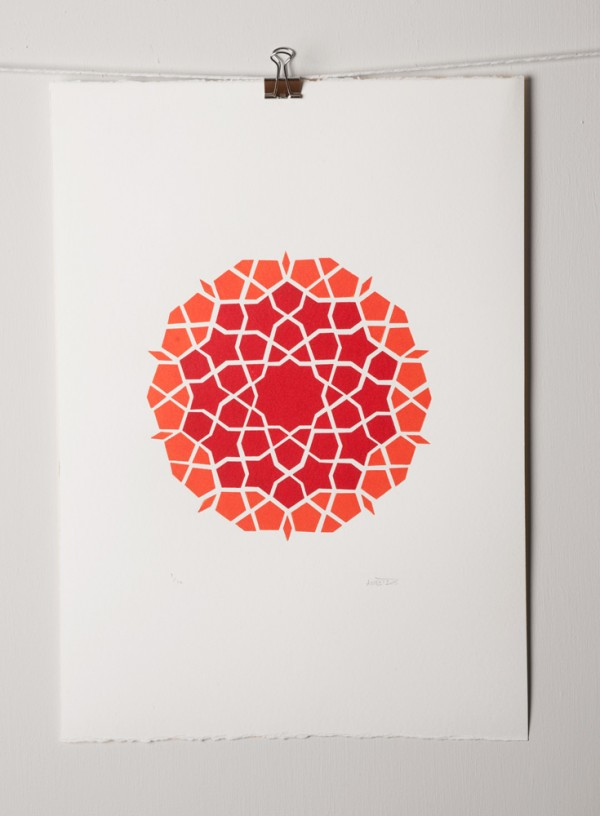 girih-mosaic-orangered-by-ambigraph