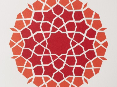 girih-mosaic-orangered-sq-by-ambigraph