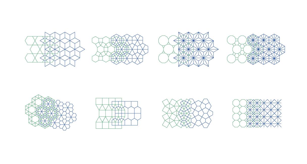 Semi Regular Dual Tilings - Ambigraph