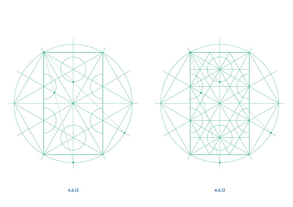 semi-regular tilings with ruler and compass - Ambigraph 04