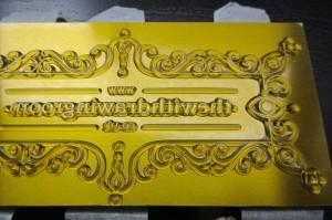 custom letterpress block