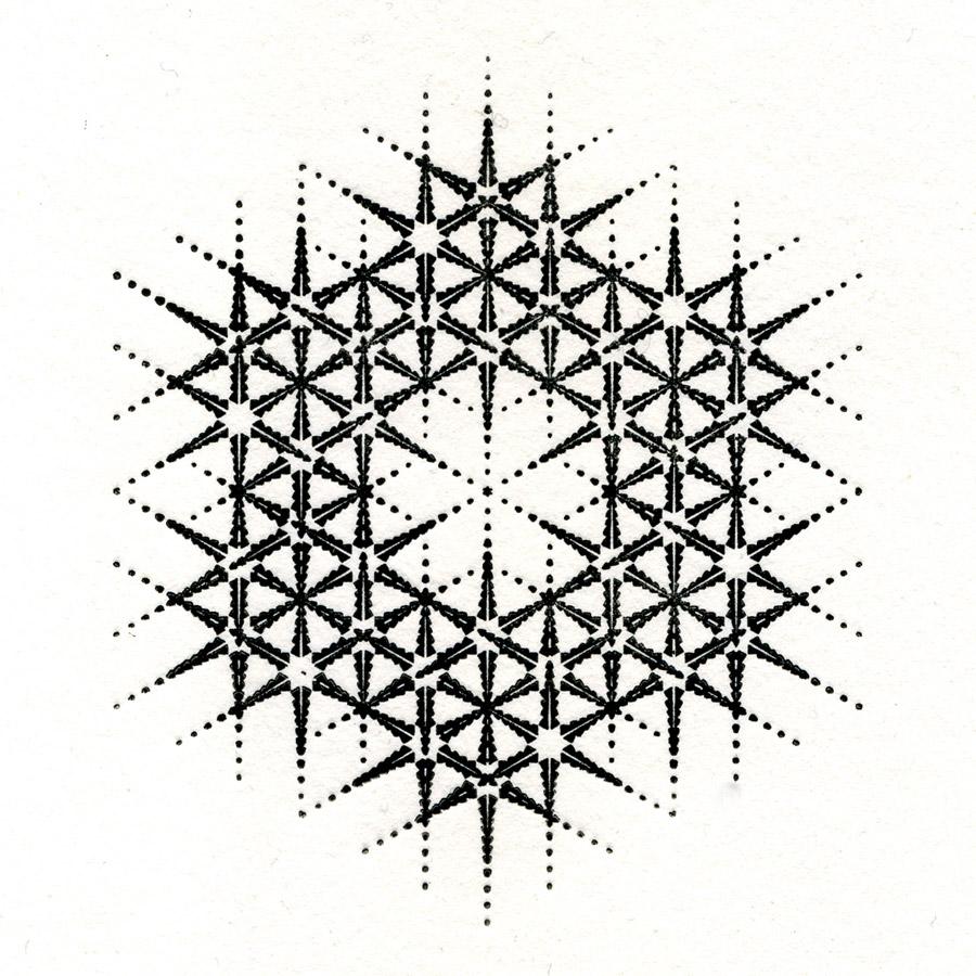 Letterpress print from an original design