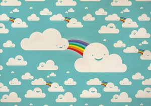 cloud friends by ambigraph
