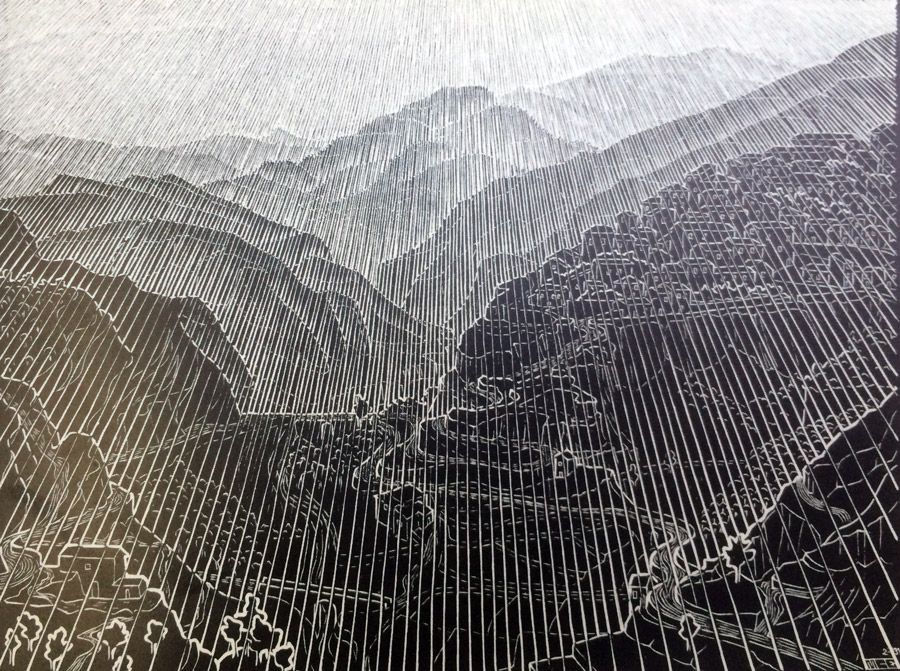 mountain-by mcescher
