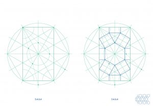 semi-regular tilings with ruler and compass - Ambigraph 02
