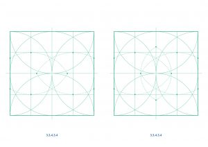 semi-regular tilings with ruler and compass - Ambigraph11