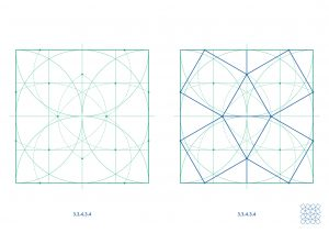 semi-regular tilings with ruler and compass - Ambigraph12