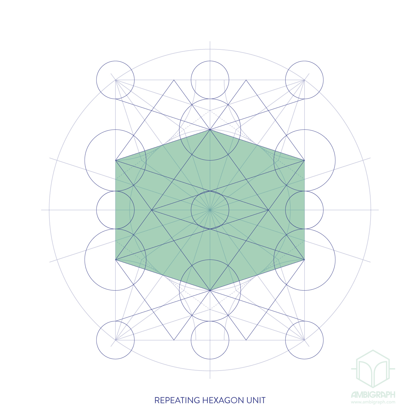 tenfold hexagon repeat R&C-01f