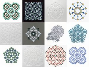 Figure 16 - Collection of prints, Relief prints and embossings from laser-cut tiles, 2016-19